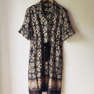 Ellen Tracy Lightweight Geometric Print Dress